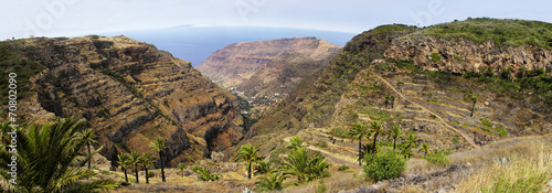 La Gomera, surrounding of Fortaleza de Chipude, Canary, Spain.