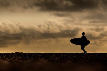 surfeur du soir