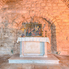 Synagogue Church Altar, Nazareth, Israel