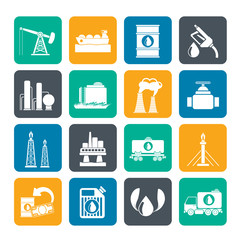Silhouette Petrol and oil industry icons