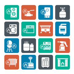 Silhouette Household Gas Appliances icons