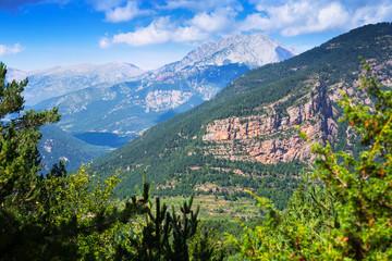 Generak view of  mountains landscape