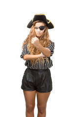 pirate obscene umbrella gesture