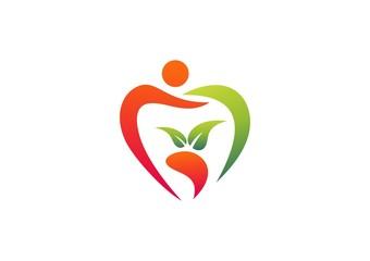 apple logo people diet fruit plant leaf nature health