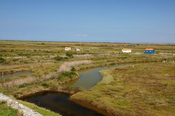 Marais face aux remparts de Brouage