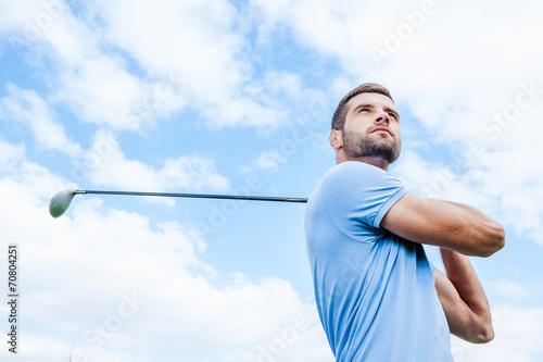 Fototapeta Professional golfer.
