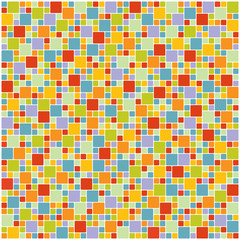 Colorful square tile wallpaper, vector format
