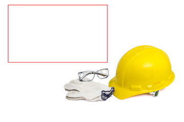 Safety set with blank banner for free-text