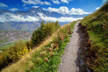Footpath in mountains