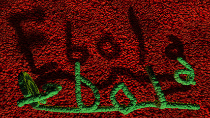 3D Ebola Virus casts a shadow