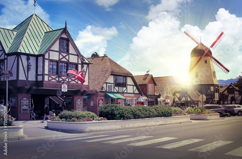 Danish European town of Solvang - 70805069