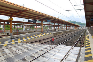 Railway station in Lourdes