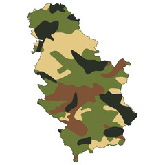 Camo texture in map - Serbia
