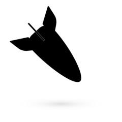 Black icon bombs. Raster