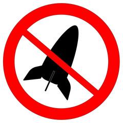 Icon ban the bomb. Raster