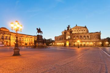 Dresden - Germany - Semper opera at dawn