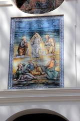 Fliesenbild an Kirche in Nerja