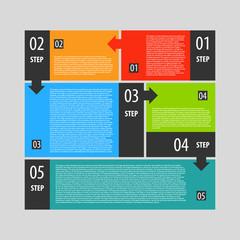 Infographics options banner steps set.