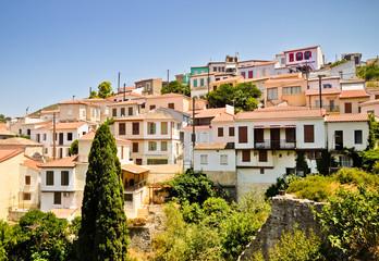 Vathi hill houses. Samos, Greece