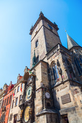 historisches Rathaus mit astronomischer Uhr in Prag