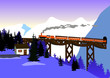 train mountains - 70809608