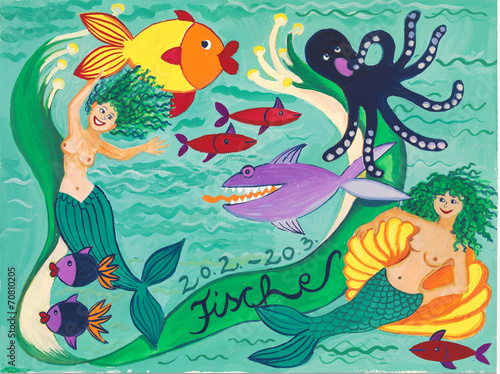 canvas print picture Fische