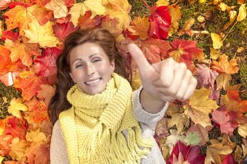 thumbs up leaf