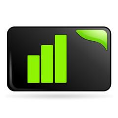 graphique sur bouton web rectangle vert