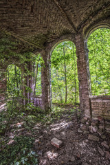 Overgrown ruins of the old palace