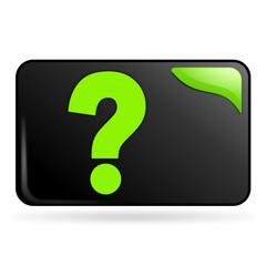 question sur bouton web rectangle vert