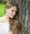canvas print picture - Young beautiful woman