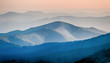 Panorama  of mountain ridges silhouettes - 70811441