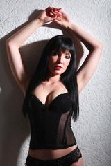 Hübsche sexy Frau in Dessous