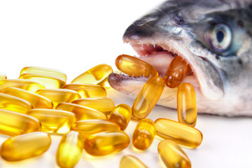Conceptual image from omega-3 capsules