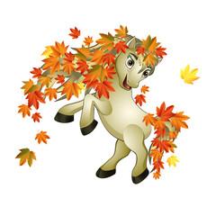 horse autumn