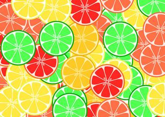 Sliced Citrus Fruit Seamless Pattern