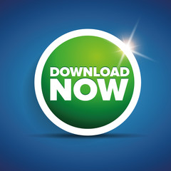 Download now button with shine
