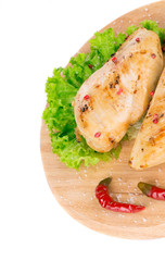 Close up of grilled chicken fillet.