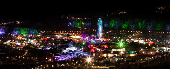 Boomtown Fair 2014 UK night view
