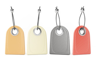 Blank leather tags