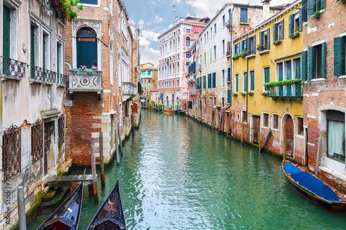 Foto op Canvas Gondolas Canal in Venice, Italy