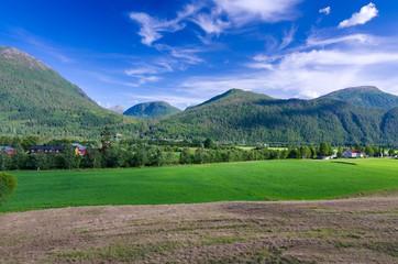 Generic Norwegian scenery with medium size mountains
