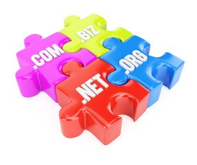 Jigsaw puzzles with domain names
