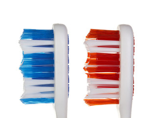 Toothbrushes isolated on white background
