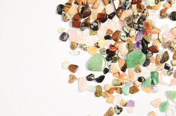Mineral Edelsteine poliert Heilsteine Hintergrund