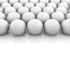Golf balls on white