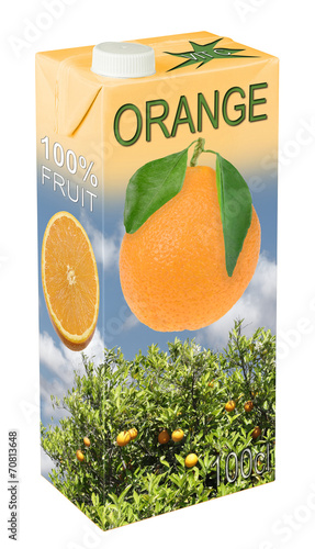 Leinwanddruck Bild Orangensaft