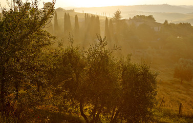 Autumn landscape in Tuscany