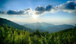 Sunrise over Blue Ridge Mountains Scenic Overlook - 70814225