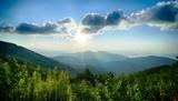Sunrise over Blue Ridge Mountains Scenic Overlook